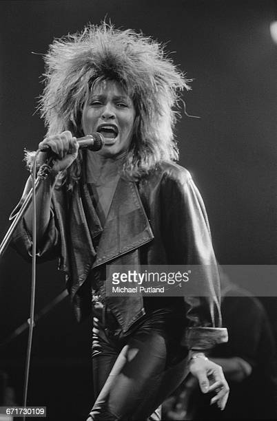 American singer Tina Turner performing during her Private Dancer Tour on one of four nights at Wembley Arena London 14th17th March 1985