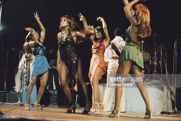 American singer Tina Turner performing live on stage with Ike Turner and the Ikettes in London 28th October 1975