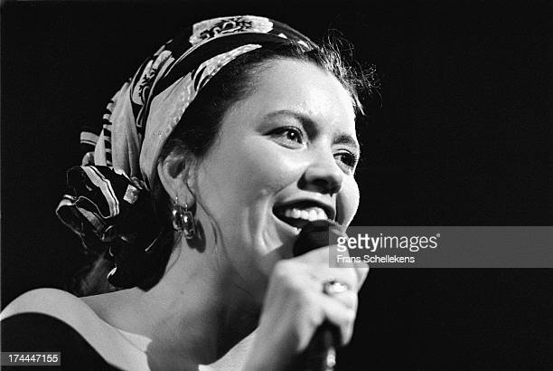 American singer Toni Childs performs at Vredenburg in Utrecht, Netherlands on 10th March 1989.