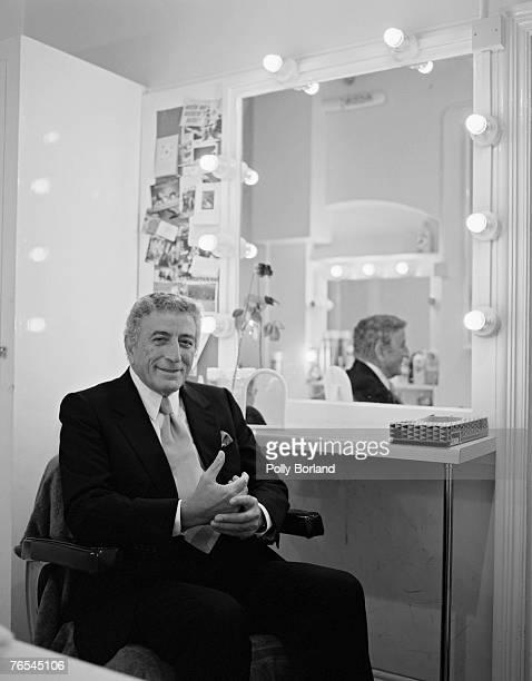American singer Tony Bennett in his dressing room circa 2005