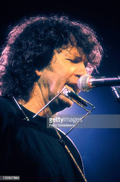 American singer Tony Joe White performs live on stage at Paradiso in Amsterdam, Netherlands on 8th January 1991.