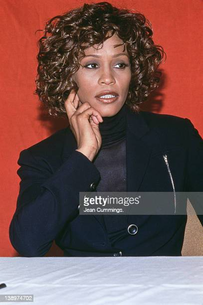 American singer Whitney Houston circa 1990