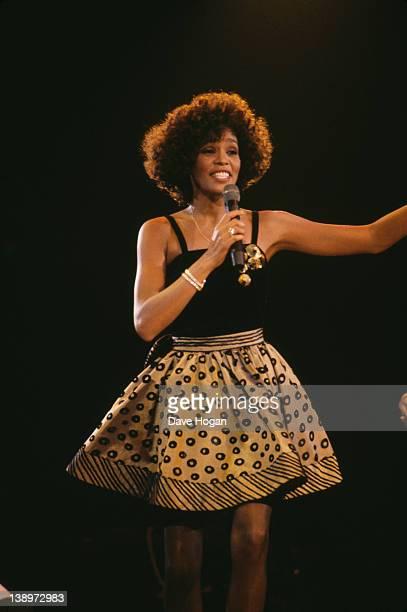 American singer Whitney Houston in concert 1988