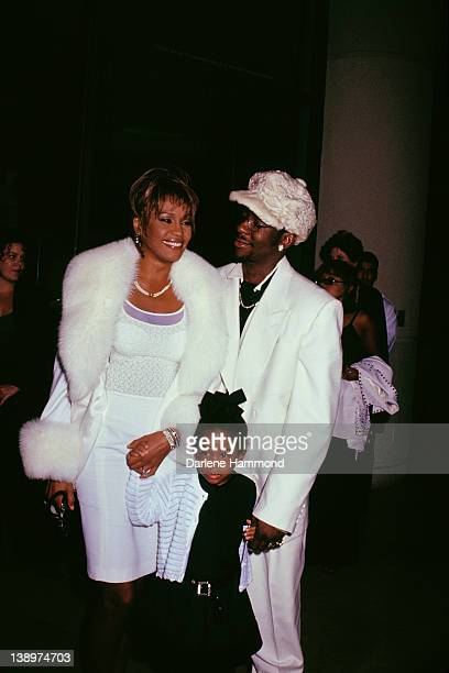 American singer Whitney Houston with her husband Bobby Brown and their daughter Bobbi Kristina Brown at the International Achievement in Arts...