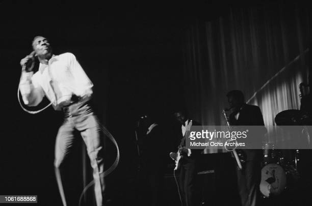 American singer Wilson Pickett appears on stage at the Apollo Theater New York City 8th September 1966