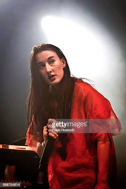 Editorial use only No usage in books American singer Zola Jesus performs live during the Festival PopKultur at the Huxleys on September 2 2016 in...