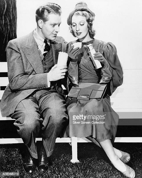 American singers and actors Nelson Eddy and Jeanette MacDonald in a promotional portrait for 'Sweethearts' directed by WS Van Dyke 1938