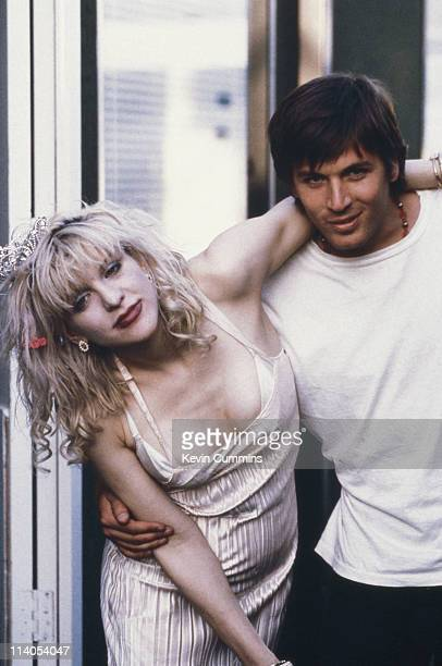 American singers and musicians Courtney Love and Evan Dando 1994