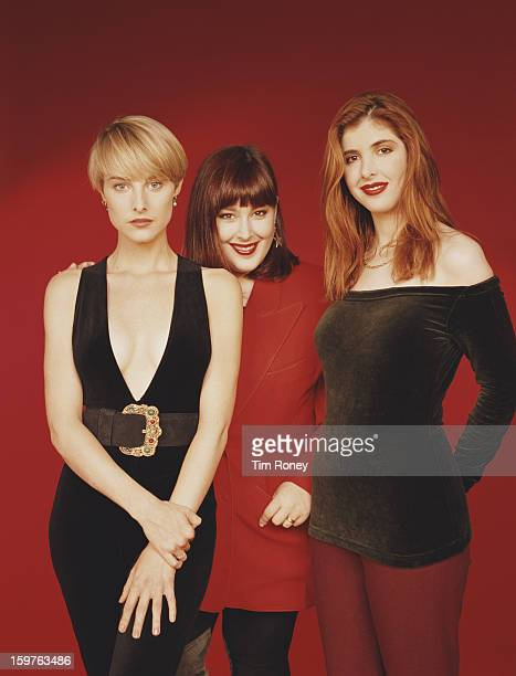 American singers Carnie Wilson Wendy Wilson and Chynna Phillips of the vocal group Wilson Phillips circa 1990