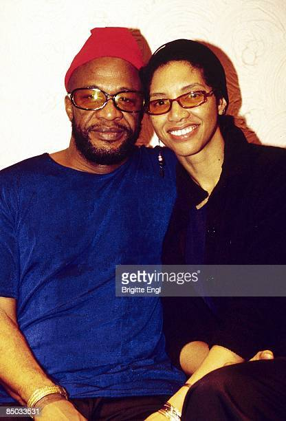American singers Cecil Womack and Linda Cooke of Womack Womack posed backstage in London in 1999