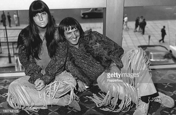 American singers Cher and Sonny Bono of husbandandwife pop duo Sonny Cher London August 1965