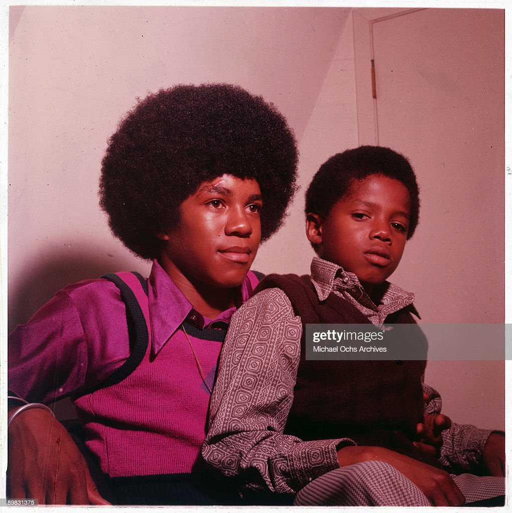 American singers Randy (right) and Jermaine Jackson, circa 1972.