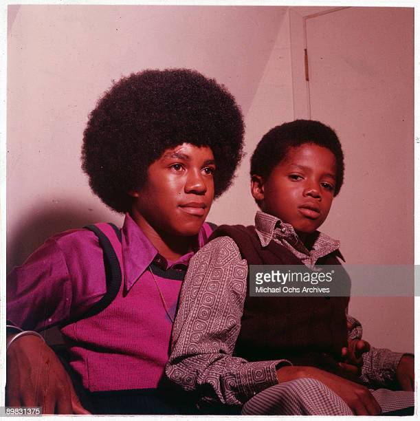 American singers Randy and Jermaine Jackson circa 1972
