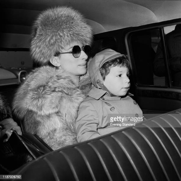 American singersongwriter actress and filmmaker Barbra Streisand with her son American actor director producer writer and singer Jason Gould UK 28th...