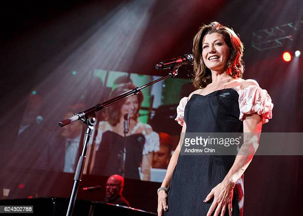 American singersongwriter Amy Grant performs on stage at Abbotsford Entertainment and Sports Centre on November 18 2016 in Abbotsford Canada
