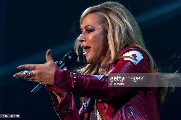 American singersongwriter Anastacia performs live in Padova with his The European Ultimate Collection Tour 2016 on April 3 2016