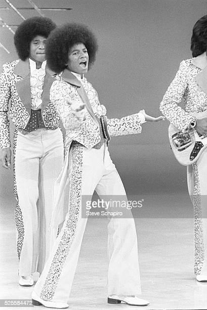 Michael Jackson and the Jackson Five appearing on the Sonny and Cher television show in the mid1970s
