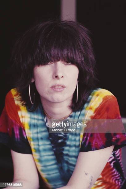 American singer-songwriter and guitarist Chrissie Hynde of rock group The Pretenders, London, September 1986.