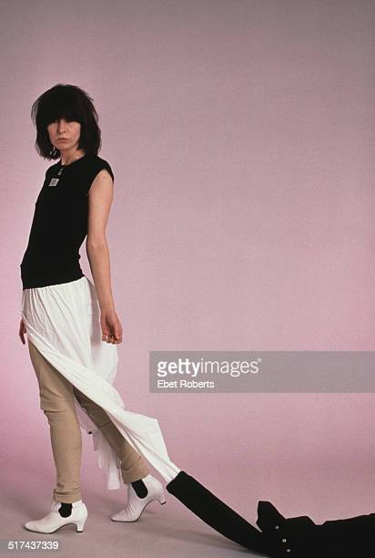American singersongwriter and guitarist Chrissie Hynde of rock group The Pretenders USA 1986