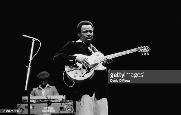 American singersongwriter and guitarist George Benson performing at the Theatre Royal Drury Lane London 1978