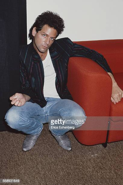 American singersongwriter and guitarist Lindsey Buckingham of Fleetwood Mac at the offices of WEA Records in Broadwick Street Soho London 1980