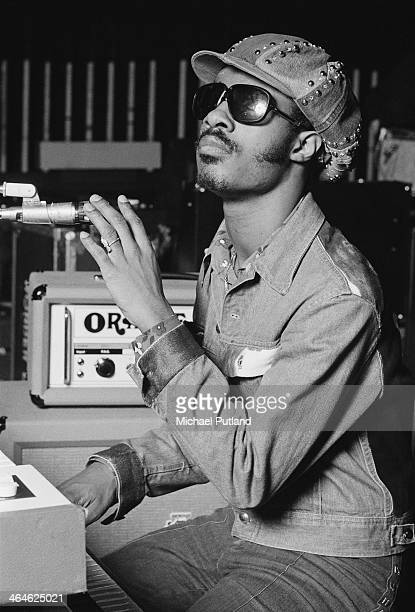 American singersongwriter and keyboard player Stevie Wonder 9th February 1974