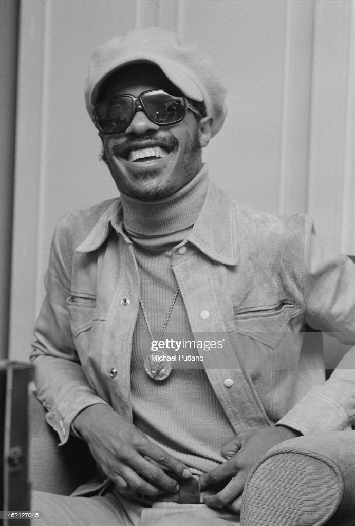 American singer-songwriter and keyboard player Stevie Wonder, January 1974.