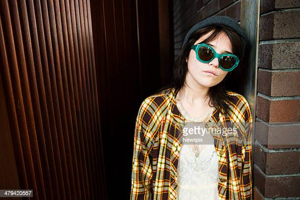 American singersongwriter and model Sky Ferreira poses during a photo shoot on March 17 2014 in Sydney Australia