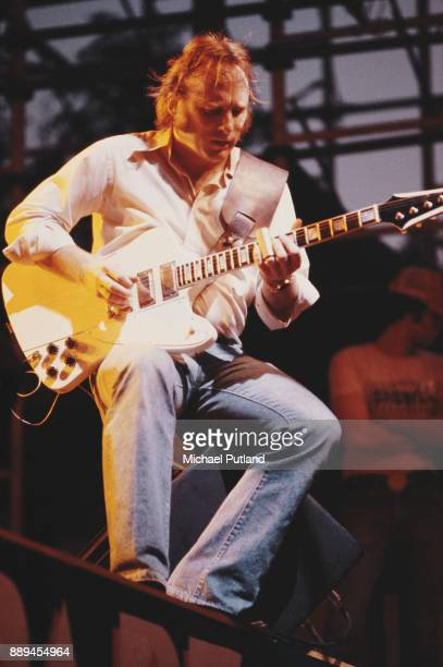 American singersongwriter and multiinstrumentalist Stephen Stills of folk rock supergroup Crosby Stills Nash Young performing on stage June 1979