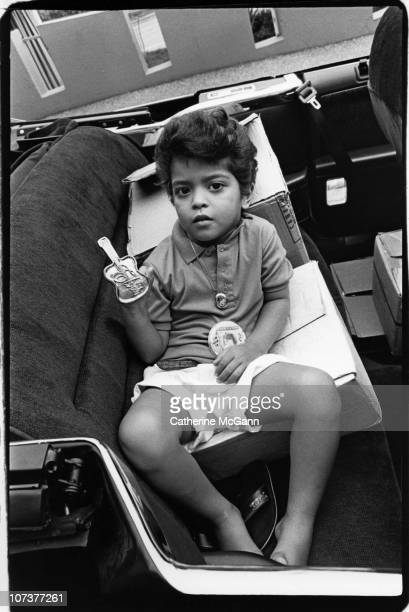American singer-songwriter and music producer Bruno Mars ; shown here as a four year old Elvis impersonator in August 1990 in Memphis, TN.