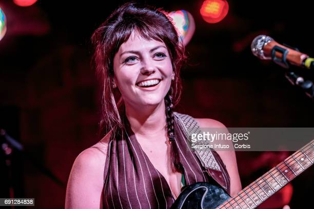 American singer-songwriter and musician Angel Olsen performs on stage on June 1, 2017 in Milan, Italy.