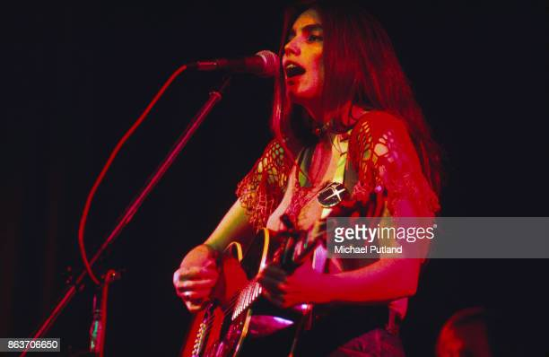American singer-songwriter and musician Emmylou Harris performs at the Concertgebouw, Amsterdam, Netherlands, November 1975.