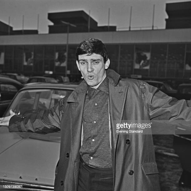 American singer-songwriter and musician Gene Pitney arrives at London Airport for a concert tour and television appearances in the UK, 31st October...