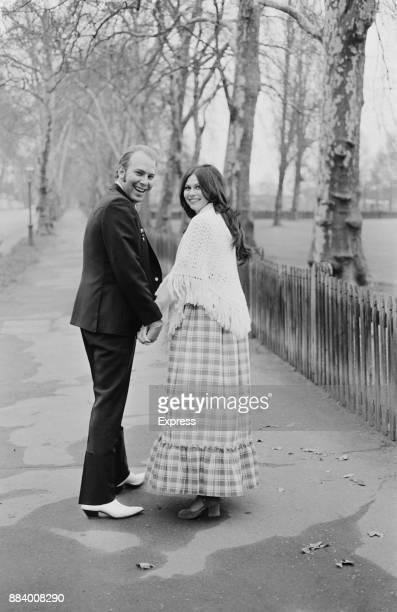 American singersongwriter and musician Hank Williams Jr with his wife Gwen Yeargain in London UK 12th April 1971