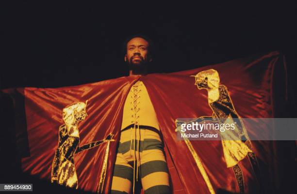 American singersongwriter and musician Maurice White of American multigenre band Earth Wind Fire performing US 3rd February 1978