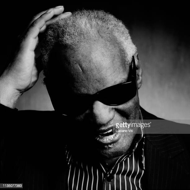 American singer-songwriter and pianist Ray Charles, Italy, 1995.