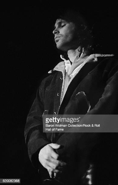 American singer-songwriter and poet Jim Morrison , lead singer of The Doors, at the Winterland in San Francisco, December 1967.