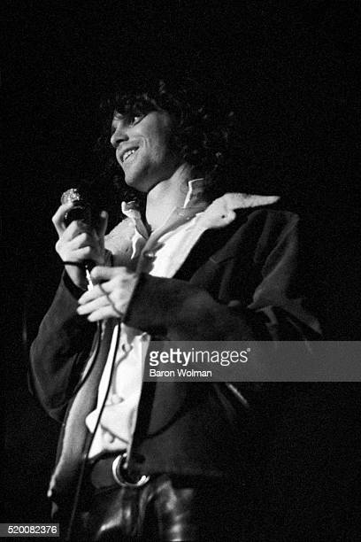 American singer-songwriter and poet Jim Morrison , lead singer of The Doors, at the Winterland in San Francisco, December 1967. This photograph was...