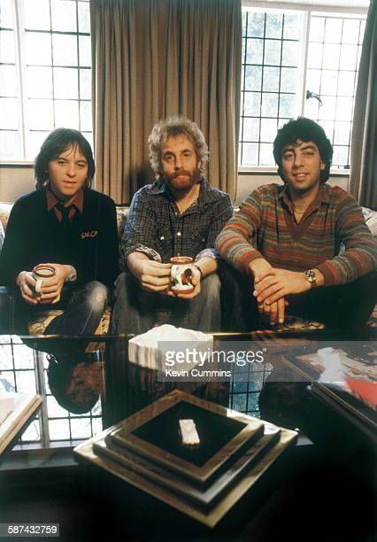 American singersongwriter Andrew Gold with Eric Stewart and Graham Gouldman of English rock band 10cc circa 1981