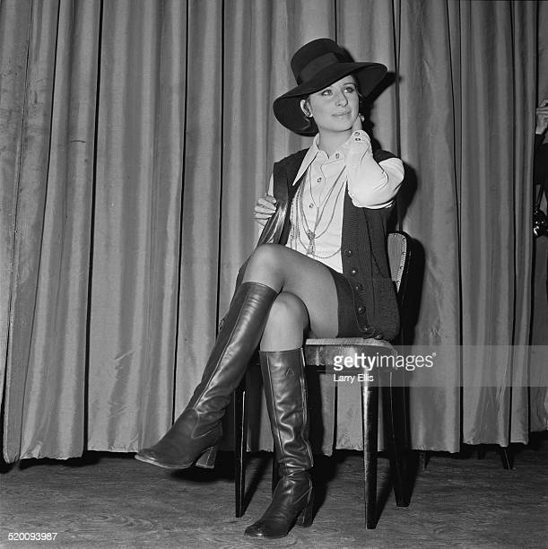 American singer/songwriter author and actress Barbra Streisand at the Dorchester Hotel London 14th January 1969