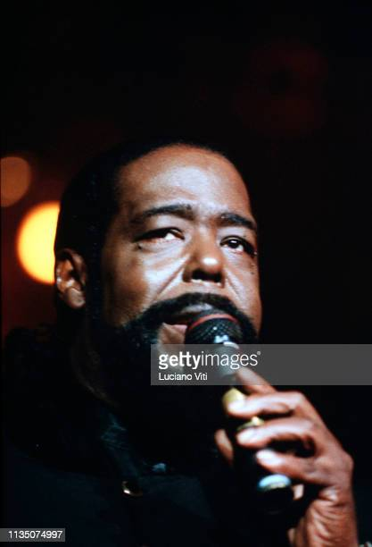 American singersongwriter Barry White Rome Italy circa 1985