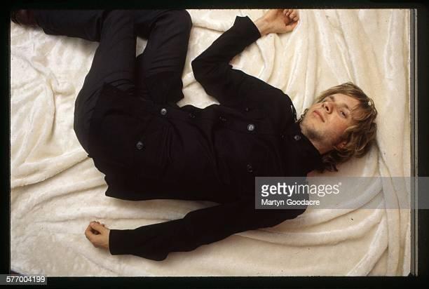 American singer-songwriter Beck , London, 2000.