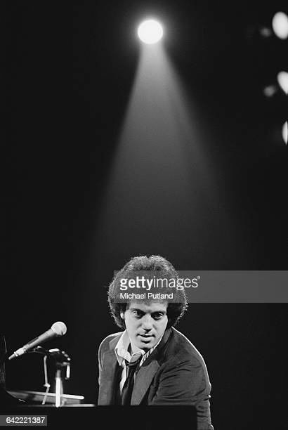 American singer-songwriter Billy Joel, performing on stage, USA, November 1978.