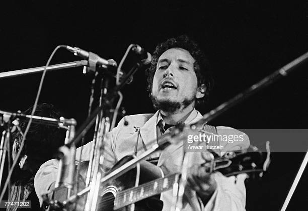 American singersongwriter Bob Dylan on stage at the Isle of Wight Festival in Wootton 31st August 1969