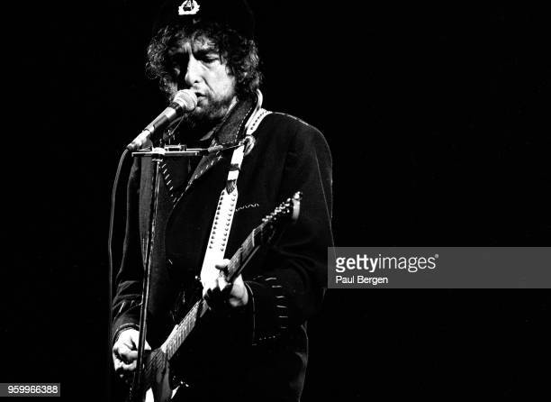 American singersongwriter Bob Dylan performs at Rock Torhout festival Torhout Belgium 7th July 1990
