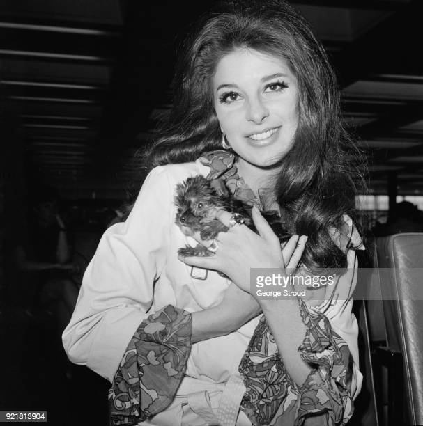 American singersongwriter Bobbie Gentry at Heathrow Airport London UK 7th July 1968