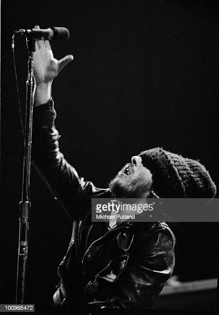 American singersongwriter Bruce Springsteen performing at the Hammersmith Odeon London 24th November 1975