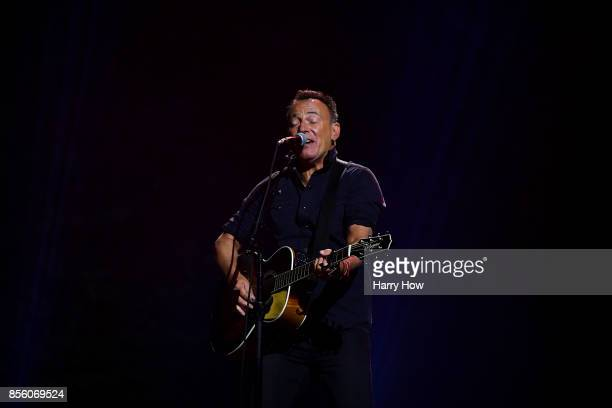 American singersongwriter Bruce Springsteen performs during the closing ceremony of the Invictus Games 2017 at Air Canada Centre on September 30 2017...