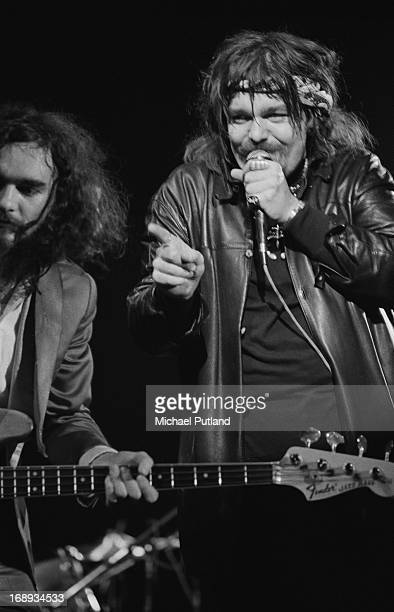American singersongwriter Captain Beefheart and Rockette Morton performing with The Magic Band at the Rainbow Theatre in London 17th April 1973