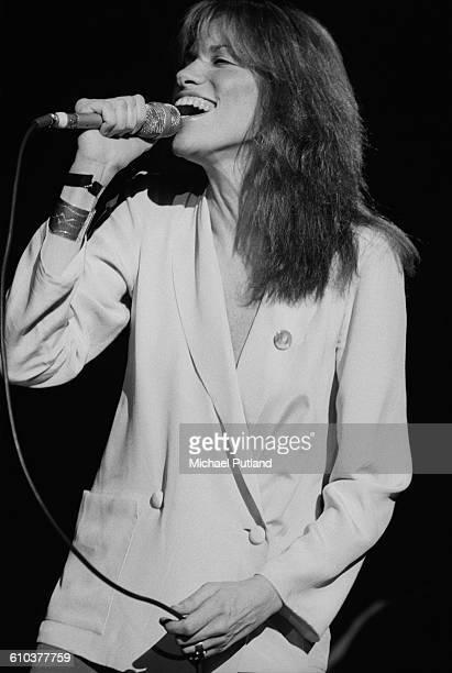 American singersongwriter Carly Simon performing at Villanova University near Philadelphia Pennsylvania USA 16th April 1978
